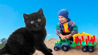Kids Pretend Play with Pets for Kids