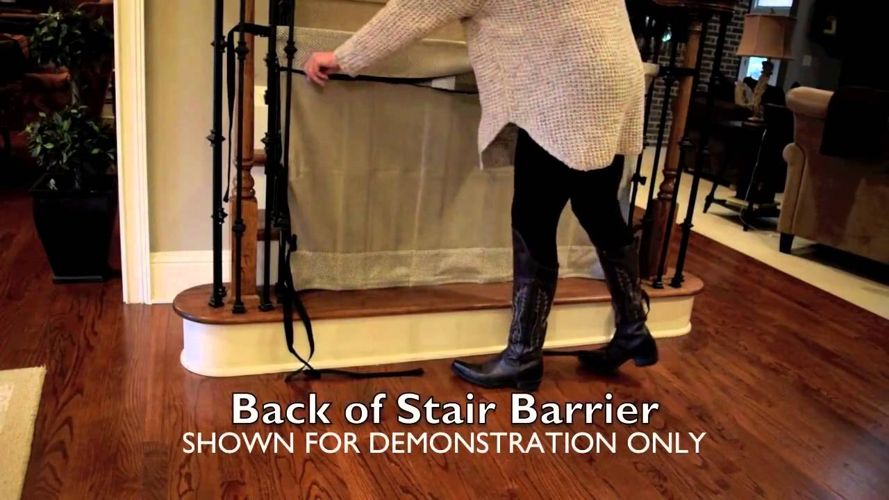 How To Install The Stair Barrier Banister To Banister Safety Gate