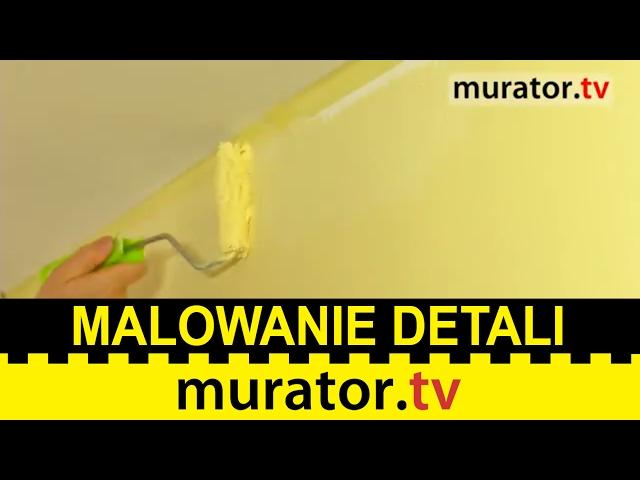 Malowanie w narożach i wzdłuż listew oraz odcinanie sufitu  - Akademia Malarska