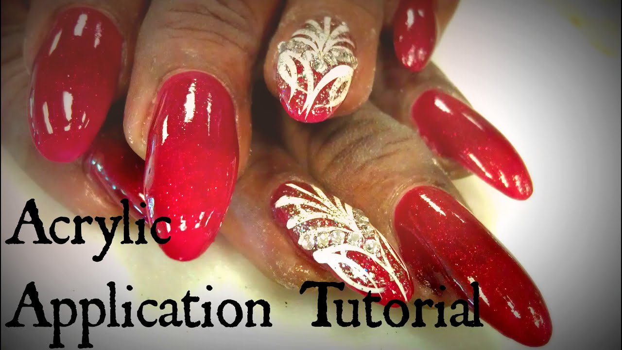 HOW TO APPLY ACRYLIC | OVAL NAILS - YouTube