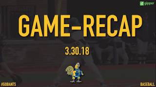 Trinity College Baseball vs Tufts Highlights 3/30/18