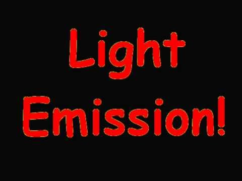 How is light emitted from an atom?