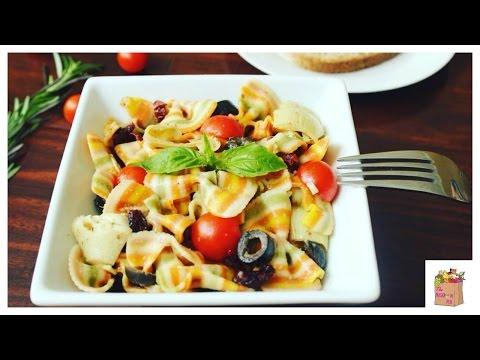 Easy Rainbow Pasta Salad (Vegan) | The Mushroom Den