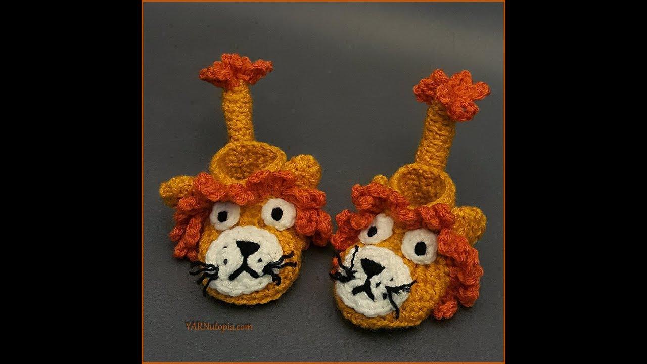 Little Amigurumi Lion : Crochet tutorial little lion booties months size youtube
