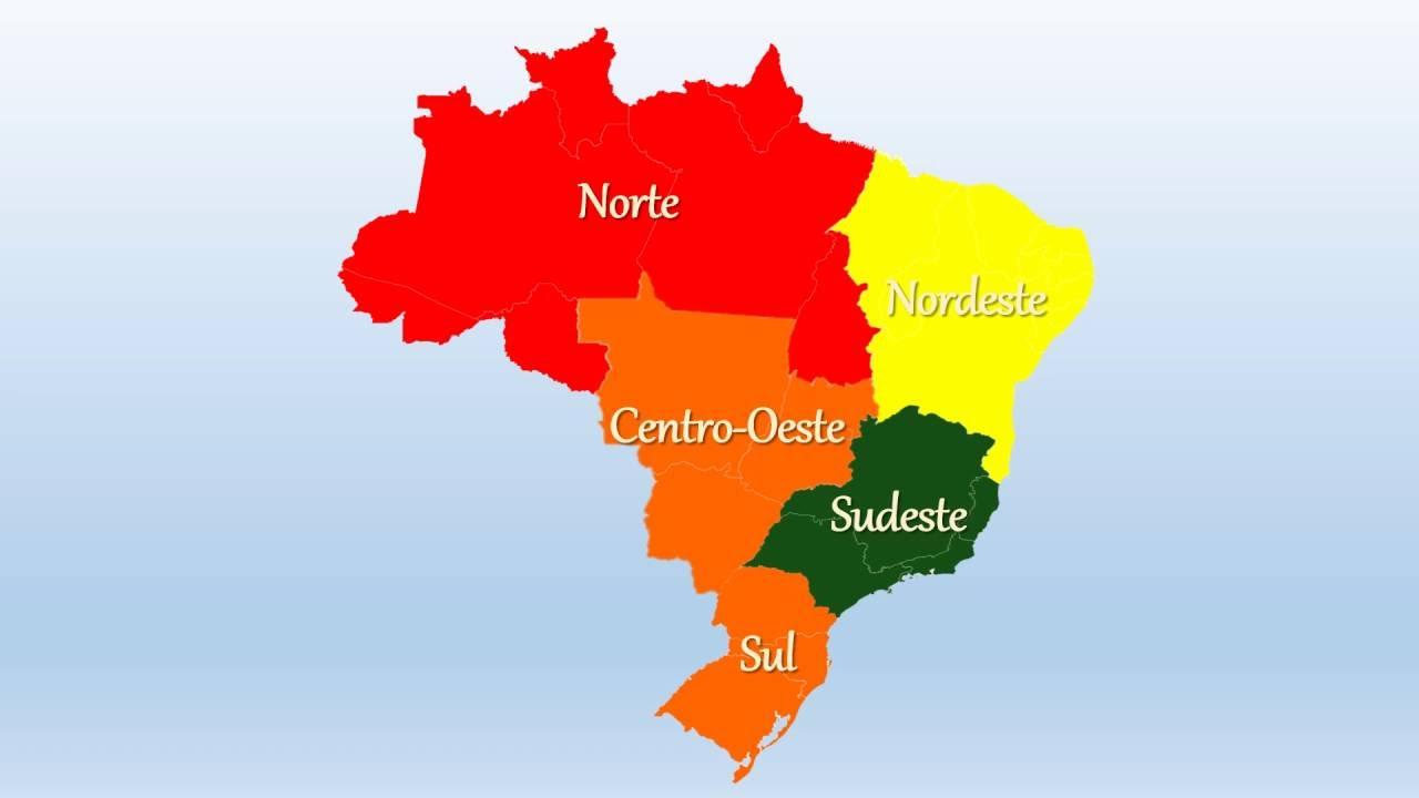 Mapa Do Brasil Com As Regi U00f5es YouTube