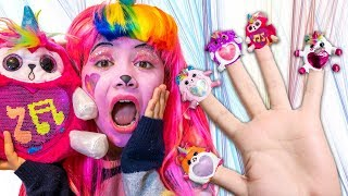 The Finger Family Song Rainbocorn Version with Facepaint