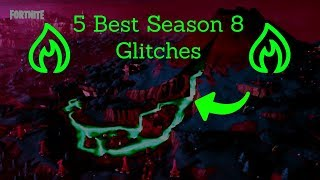 5 Best Season 8 Fortnite Glitches!! (Under Map, The Baller, Invisibility, Emote Glitches)