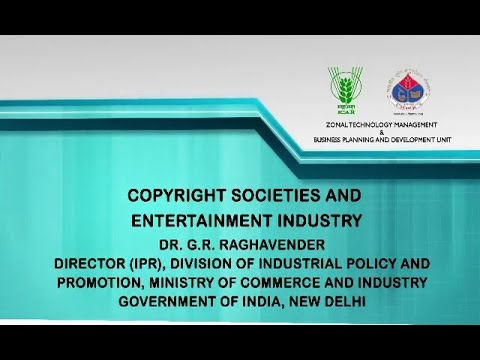 Copyright Societies and Entertainment Industry