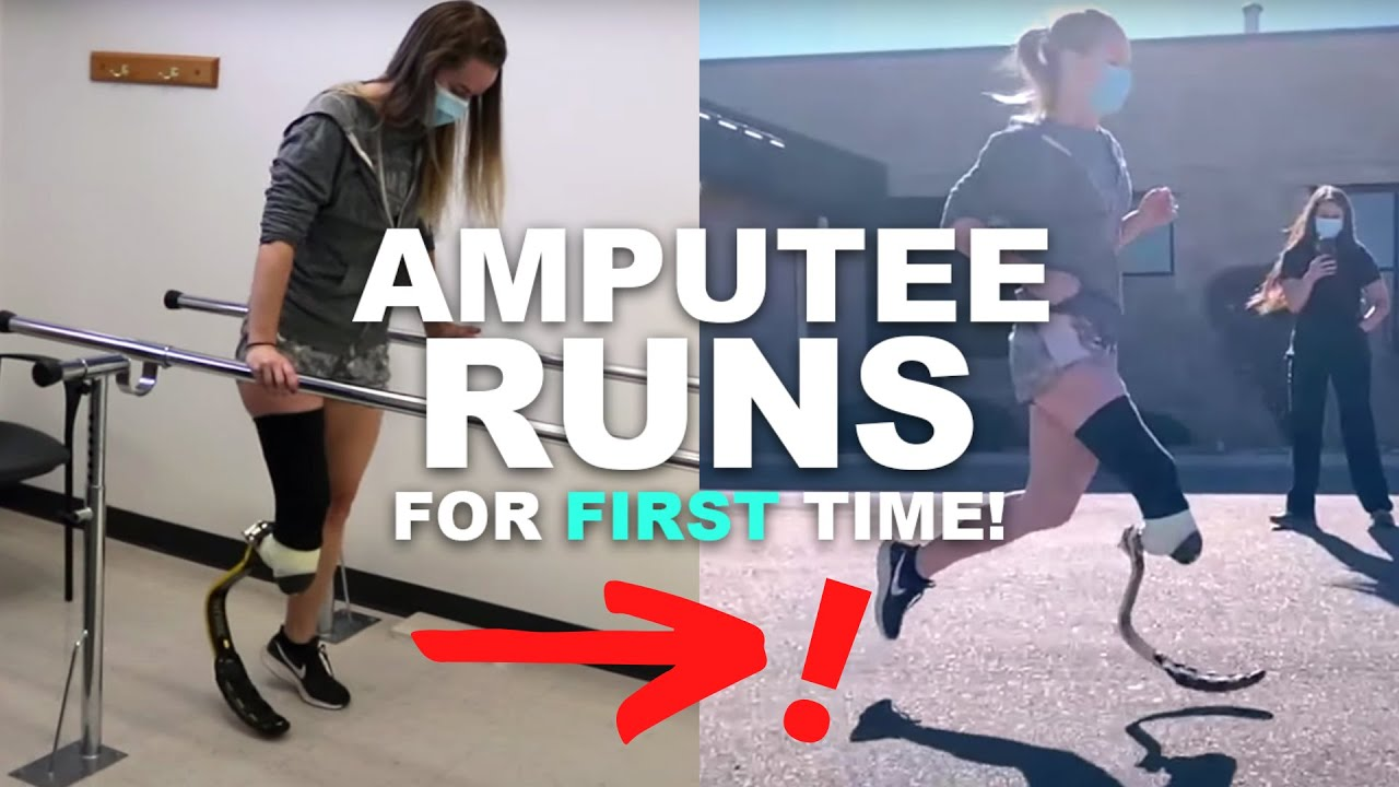 AMPUTEE RUNS FOR THE FIRST TIME!!! (Testing Out My PROSTHETIC RUNNING BLADE!!)