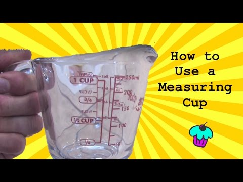Using A Measuring Cup