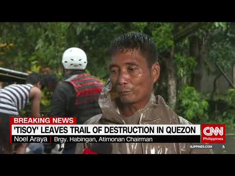 'Tisoy' Leaves Trail Of Destruction In Quezon