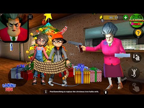 Scary Teacher 3D - Christmas Tree Level | Gameplay Walkthrough Part 84 | Android Gameplay HD