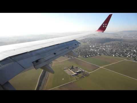 Swiss opb Privat Air 737-86Q(BBJ2)(WIN) HB-IIR landing Zurich Kloten