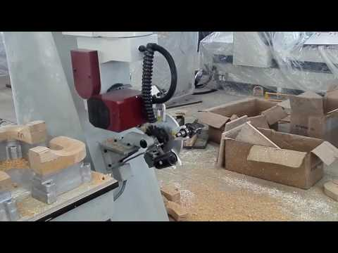 High precision CNC router 5 axis with Auto Tool Changer AKM1212