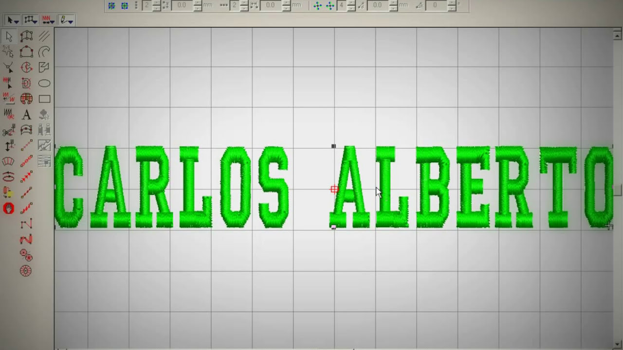 Wilcom diseño de bordados 2012 Letras. - YouTube