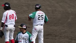 村田修一 選手 2018/04/02【タイムリーヒット】vs信濃(OP戦)at栃木市営(栃木ゴールデンブレーブス)