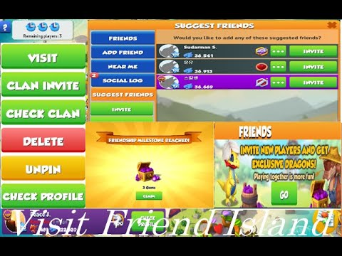 Dragon Mania Legends  Visit Friend Island | how to compare Dragons | Friends Island Tour
