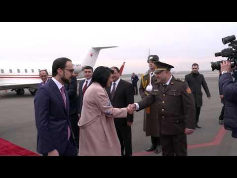 Վրաստանի նախագահ Սալոմե Զուրաբիշվիլին ժամանեց Հայաստան