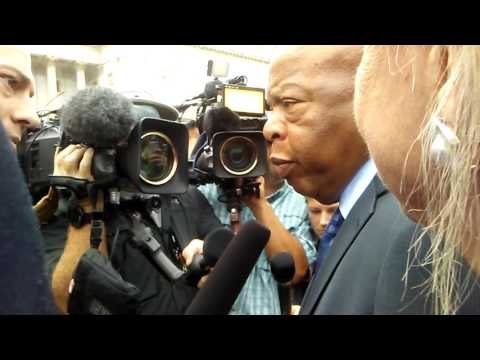 Civil Rights, Sit-In Leader John Lewis emerges, answers pressing questions #GunControl