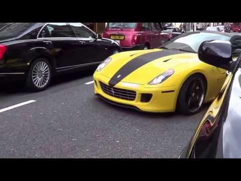 Money & Luxury :Rich ARAB's Flaunt their WEALTH Importing their SUPERCARS into LONDON