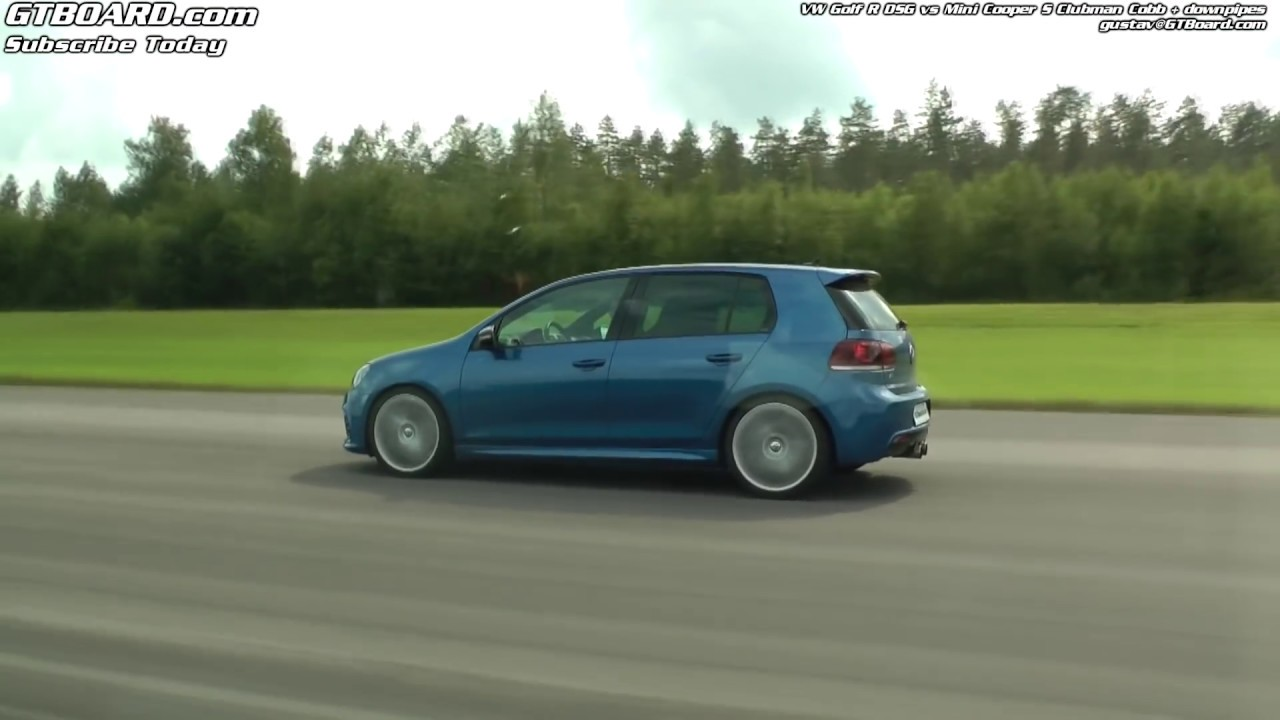 Vw Golf R Dsg Vs Mini Cooper S Clubman Cobb Downpipes Youtube