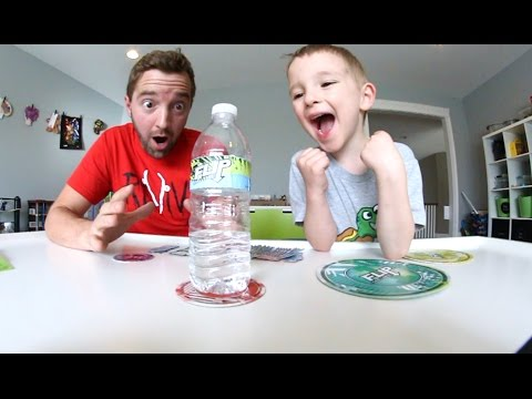 FATHER & SON PLAY FLIP CHALLENGE!  Bottle Flip Time!