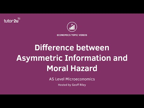 Difference between Asymmetric Information and Moral Hazard