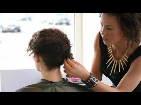 A Messy Side Updo for Short Hair : Short Hair Styling Tutorials