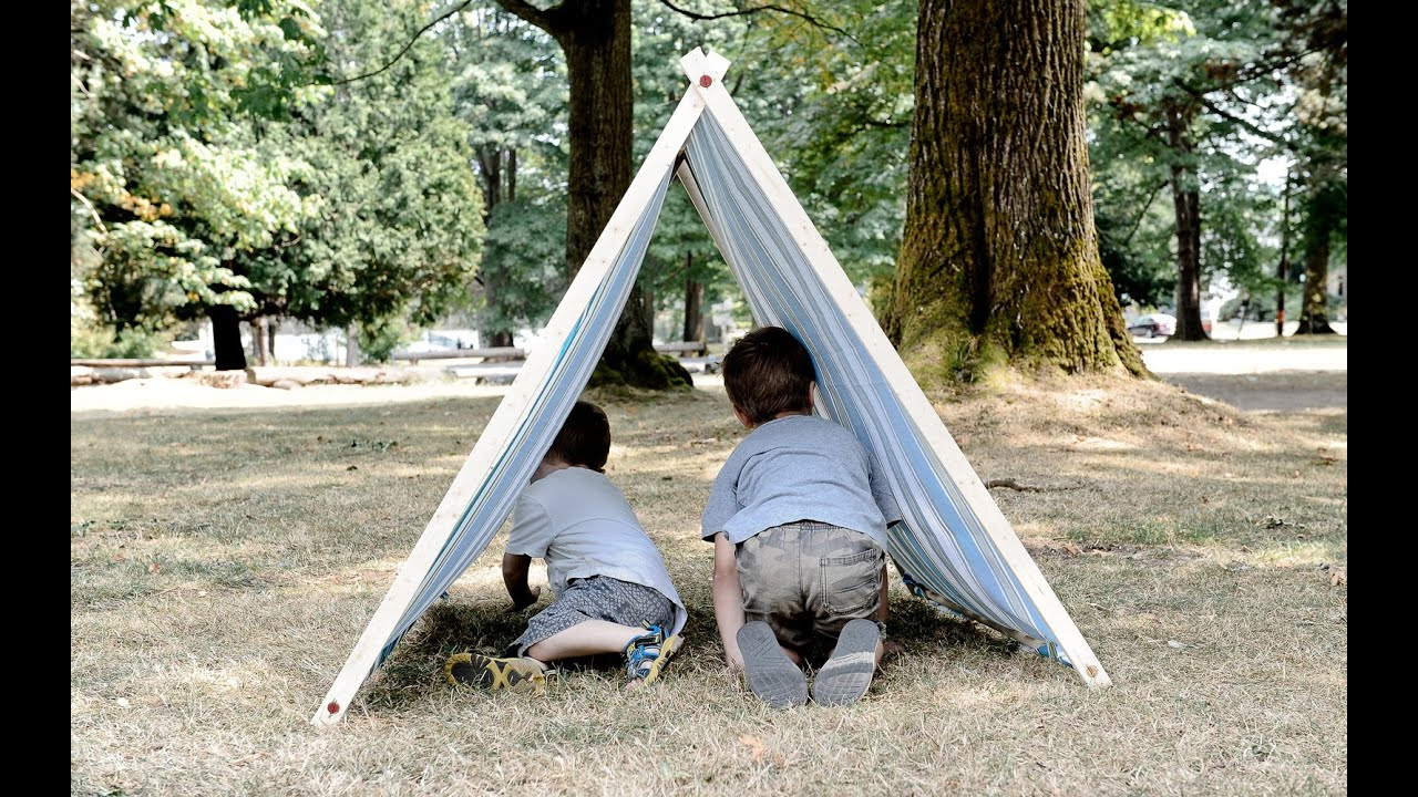340e8b98b632 How to Make a Kids A-Frame Tent - YouTube