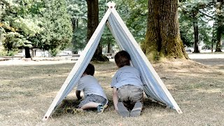 How to Make a Kids A-Frame Tent