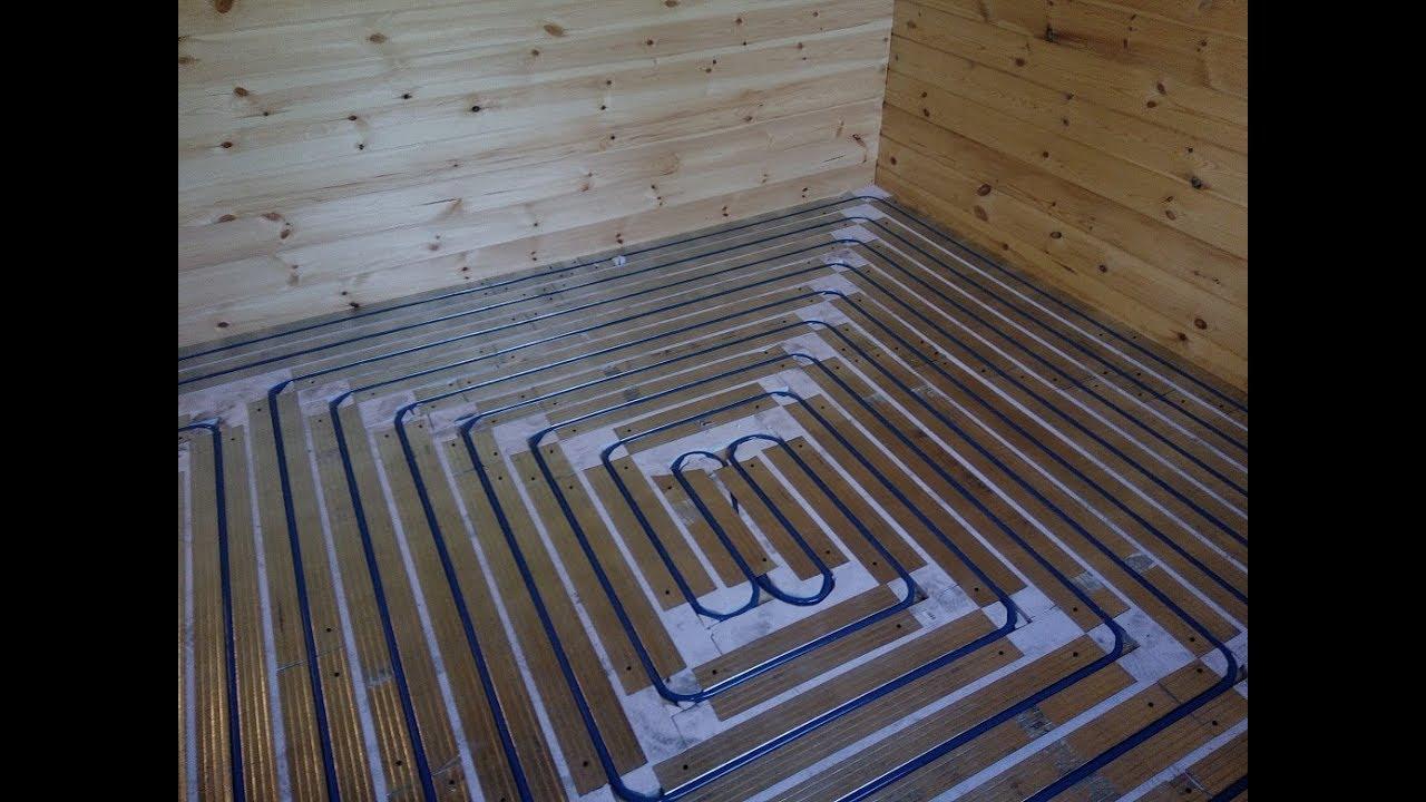 Теплый  водяной пол по деревянным лагам