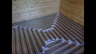 видео Теплый пол по деревянным лагам