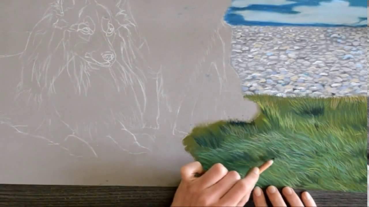 Comment Peindre Lherbe Pastels Secs Avec Lartiste Cindy Barillet