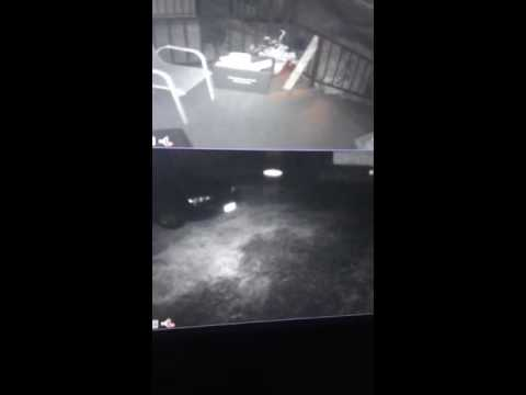 Alien or strange entity seen threw inferred camera