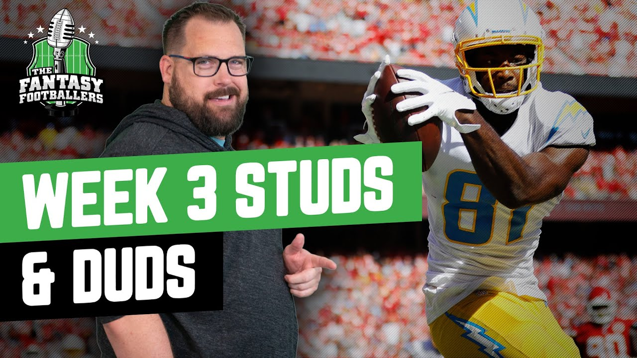 Fantasy Football 2021 - Week 3 Studs & Duds + Free Willy - Ep. 1120