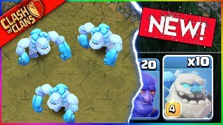 "THIS NEW ""ICE GOLEM"" TROOP IS REALLY LEGIT! (Clash of Clans)"