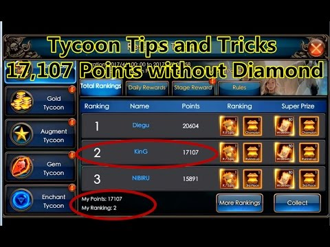 Legacy Of Discord- Tips and tricks for Tycoon  17,107 Points without Dias  Part 1
