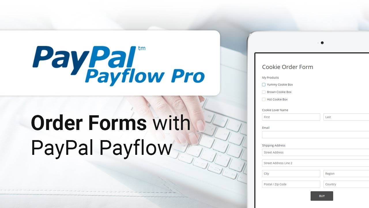 Creating an Order Form with PayPal Payflow integration