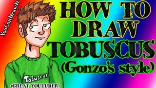 How To Draw Tobuscus from Tobuscus Animated Adventures (Toby) ✎ YouCanDrawIt ツ 1080p HD