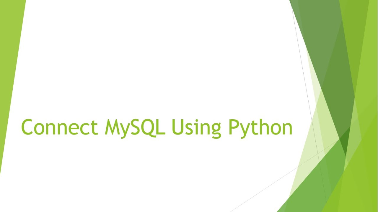 python how to connect to a database
