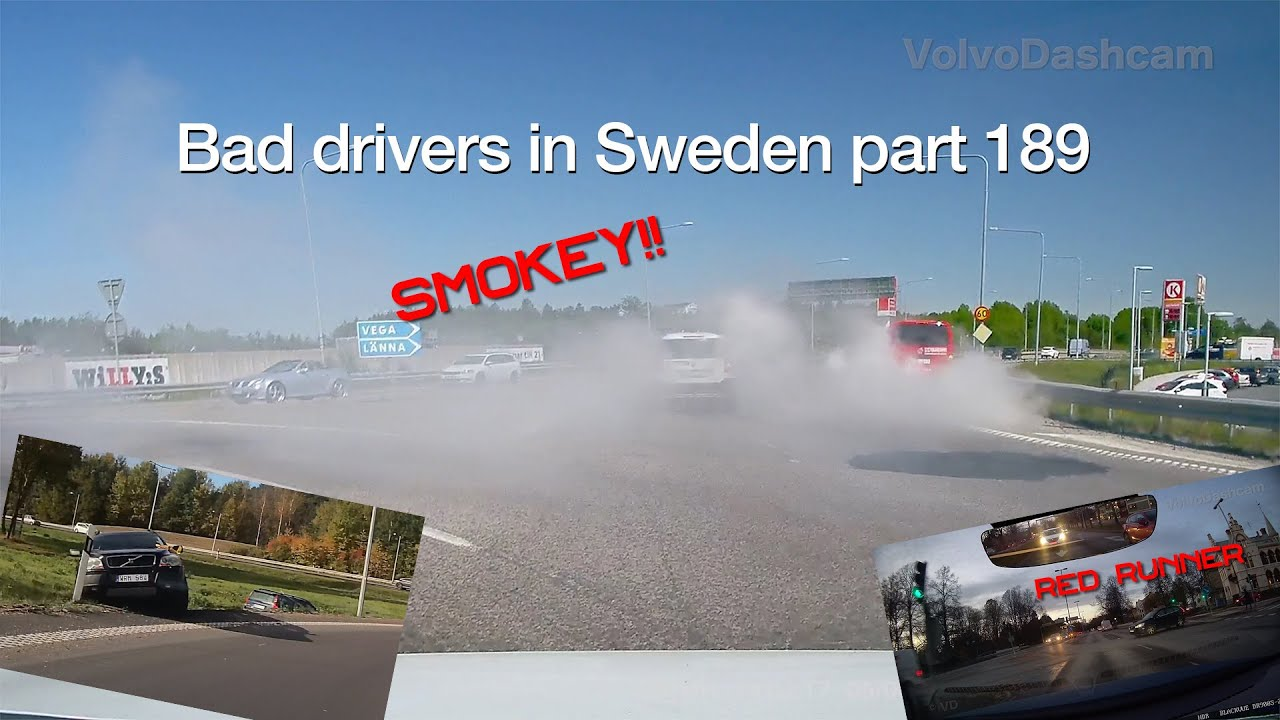 Bad Drivers in Sweden #189  Mistakes and stupidity in traffic.