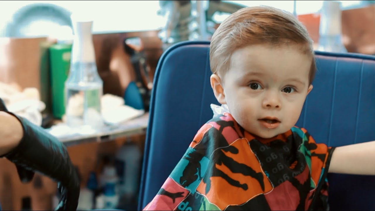 Twin Babies First Haircut At A Puerto Rican Barbershop Youtube