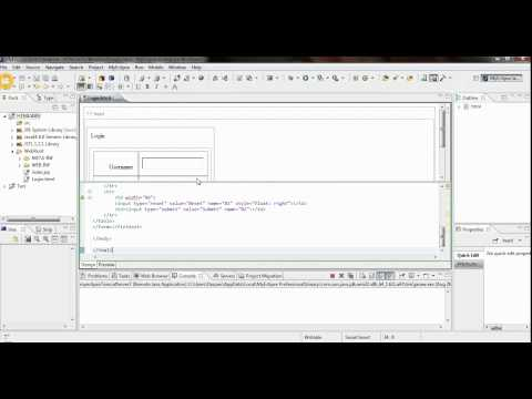 HITM CS-  HTML Servlet Connectivity Using Frontpage And Eclipse