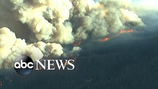 Wildfire dangers out West as more than 30 burn l GMA
