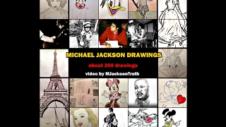 Michael Jackson as a painter - 199 drawings and paintings
