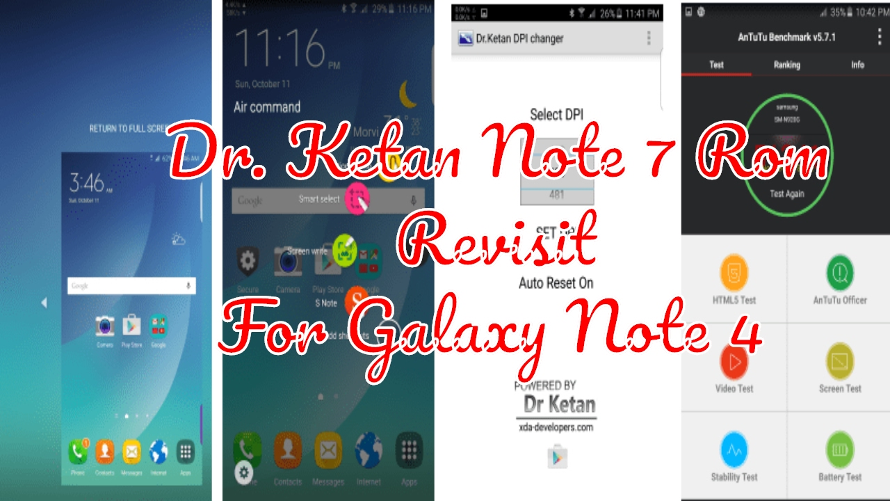 Dr  Ketan Note 7 Ported Rom M12 for Galaxy Note 4 (Revisit) | Note 7  experience on N910F #Note4Roms