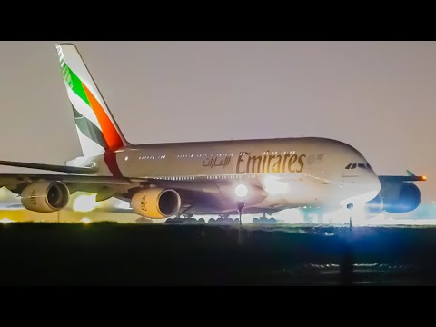 20 STUNNING Night Flights | Melbourne Airport Plane Spotting