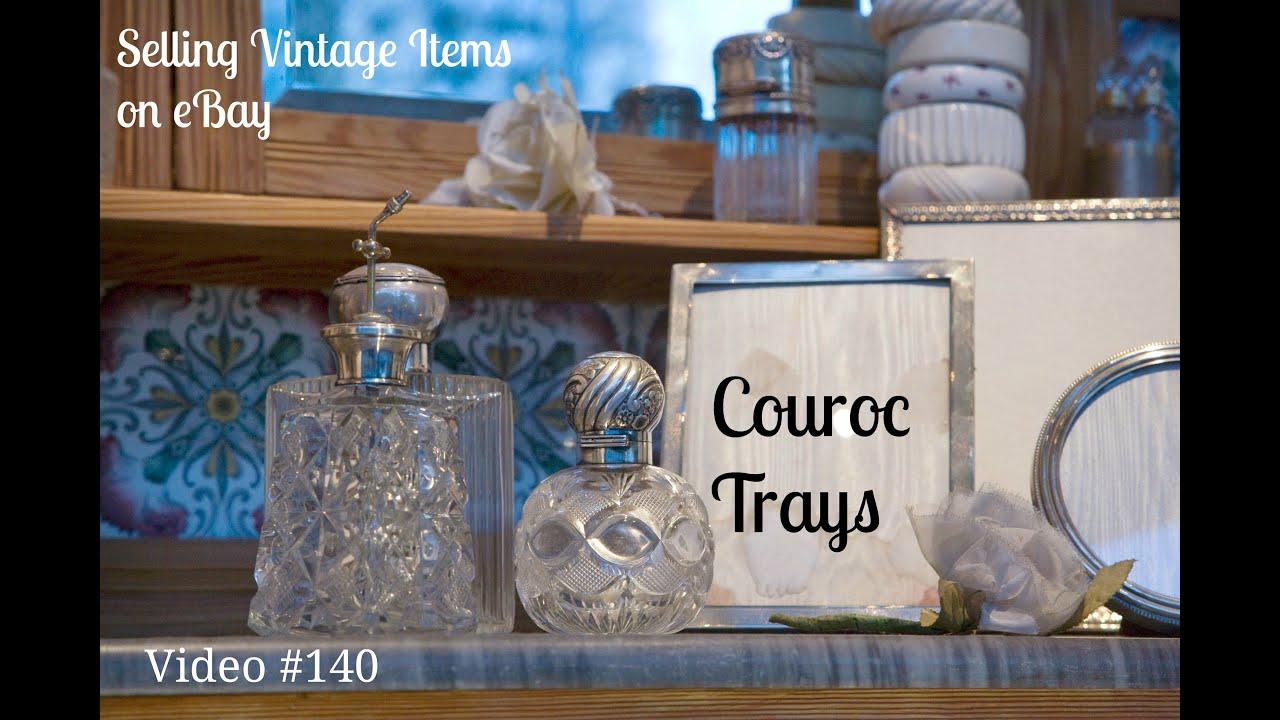 Selling Vintage Home Decor Items On Ebay Couroc Barware Trays Mid Century Modern