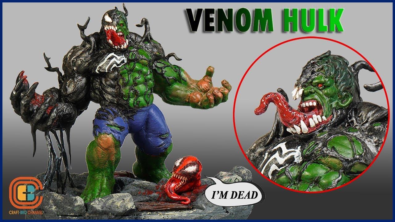 How To Make Venomized Hulk Defeat Carnage Diorama / Polymer clay
