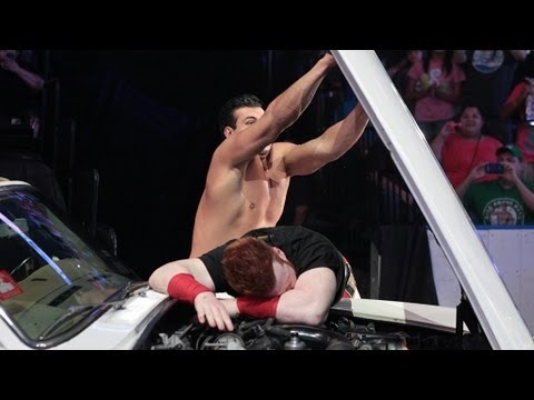 Alberto Del Rio slams the hood of his car on Sheamus: SmackDown July 3, 2012